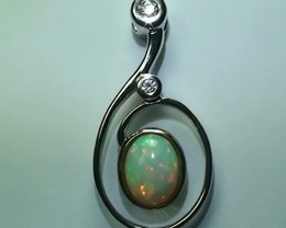 17.0 ct Stunning Modern 925 Silver Solid Welo Opal Pendant