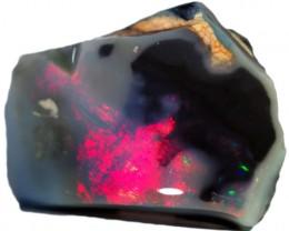 12.75 CTS  BLACK OPAL ROUGH-RED [BR5461] SAFE