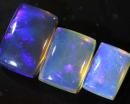 4.3 CTS CRYSTAL OPAL POLISHED PARCEL 3PCS TBO-6827