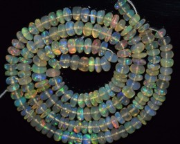 44.95 Ct Natural Ethiopian Welo Opal Beads Play Of Color