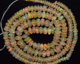 34.80 Ct Natural Ethiopian Welo Opal Beads Play Of Color