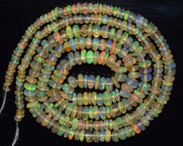 22.75 Ct Natural Ethiopian Welo Opal Beads Play Of Color