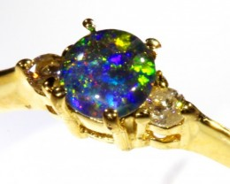 Cute Triplet Opal 18k Yellow Gold Ring SB 813