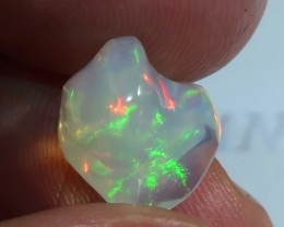 5.0 ct Ethiopian Gem Color Carved Freeform Welo Opal