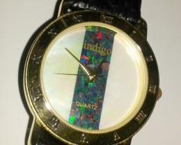 Beautiful Men's Mosiaic Australian Opal Watch