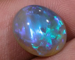 5ct 13.5x11mm Solid Lightning Ridge Crystal Opal [LO-682]