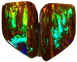 6.6 CTS TOP QUALITY PAIR WOOD FOSSIL OPAL SB 857
