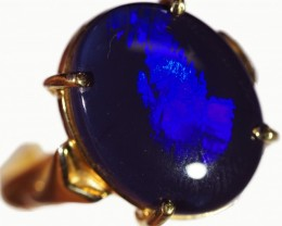 Cute Black Opal 18k Yellow Gold Ring SB 877