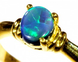 Cute Black Opal 18k Yellow Gold Ring SB 893