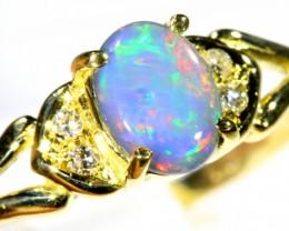 Cute Black Opal 18k Yellow Gold Ring SB 901