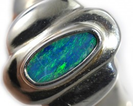 Doublet opal Ring sterling silver size 8.5 QO2920
