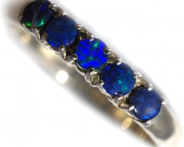 Doublet opal Ring sterling silver size 7  QO2927