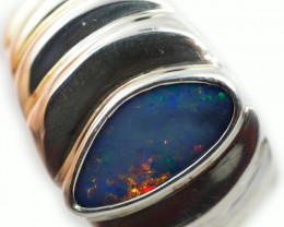 Doublet opal Ring sterling silver QO2931