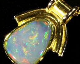 Fire Opal set in 18k  Gold Pendant  CF 1075