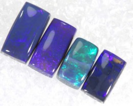 N4-1.4 CTS BLACK OPAL POLISHED PARCEL 4PCS TBO-6843