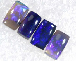 N2- 1.2 CTS BLACK OPAL POLISHED PARCEL 4PCS TBO-6844
