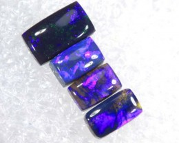 N2- 1.25 CTS BLACK OPAL POLISHED PARCEL 4PCS TBO-6847