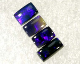 N2- 0.95 CTS BLACK OPAL POLISHED PARCEL 4PCS TBO-6849