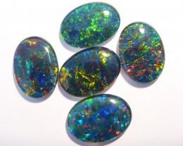 Beautiful pair of Australian Opal Triplets, gem grade, 18x13mm (#2637)