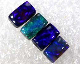 N2- 1.15 CTS BLACK OPAL POLISHED PARCEL 4PCS TBO-6859