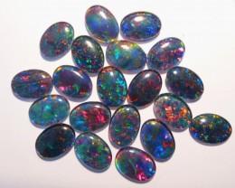 Parcel of 20 Bright A Grade Australian Opal Triplets, 14x10mm