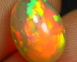 3.55cts Full Saturated 5/5 Iridescence Fire Ethiopian Opal