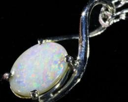 Fire Opal set in 18k  Gold Pendant  CF 1076