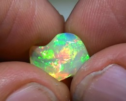 3.40 ct Ethiopian Gem Color Carved Freeform Welo Opal