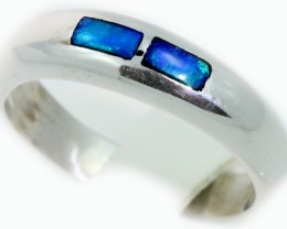 Cute Inlay Opal 18k White Gold Ring SB911
