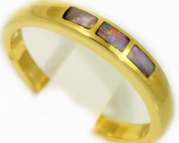 Gold Inlay Opal Rings