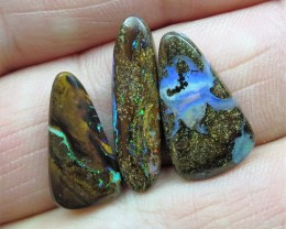 "14cts.""BOULDER MATRIX OPALS~3 X WHOLESALE OPALS"""
