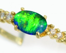 Triplet Opal 14k Yellow Gold Ring SB934