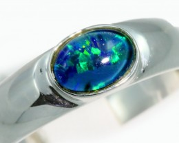 Triplet Opal 18k White Gold Ring SB935