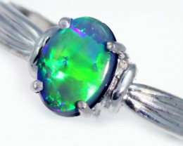 Solid Black Opal Engagement  Ring SB951