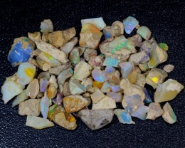 102ct Multi Color Ethiopian Welo Opal Rough Parcel Lot
