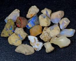 123ct Multi Color Ethiopian Welo Opal Rough Parcel Lot
