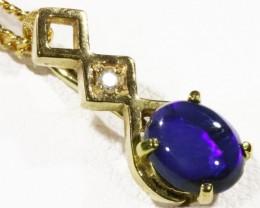 Black  Opal set in 18k  Gold Pendant  CF 1166