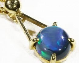Black  Opal set in 18k  Gold Pendant  CF 1174