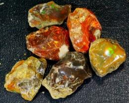 205Ct / 6Pcs Ethiopian Welo Specimen Rough Opal Parcel Lot