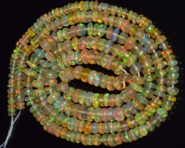 24.60 Ct Natural Ethiopian Welo Opal Beads Play Of Color