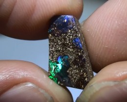 3.75 ct Boulder Opal Natural Blue Green Color