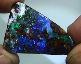 27.85 ct Boulder Opal Natural Gem PinfireBlue Green Color