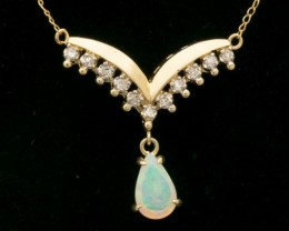 Solid Crystal Opal Necklace 1.15ct (LP170)