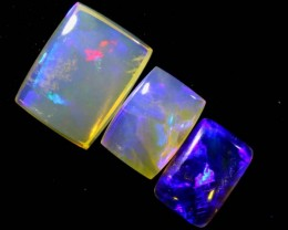 3.5CTS CRYSTAL OPAL POLISHED PARCEL 3PCS TBO-7106