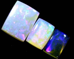 3.3CTS CRYSTAL OPAL POLISHED PARCEL 3PCS TBO-7107