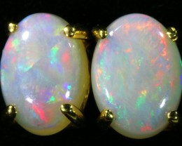 Crystal Opal set in 18k yellow gold Earring CF1193
