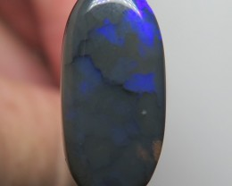 9.87Ct Lightning Ridge Black Opal stone