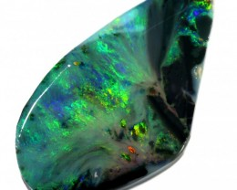 27.20 CTS BLACK  OPAL ROUGH -CLEAN PRE-RUBBED [BR5478] SAFE