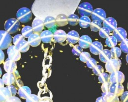 53.70CTS ROUND OPAL BEAD STRAND FOB-1070