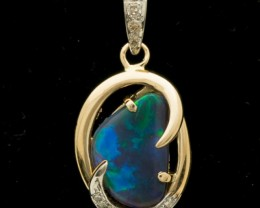 Black Solid Opal Pendant 2.7ct (LP113)